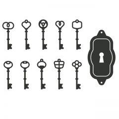 دانلود وکتور کلید و قفل قدیمی