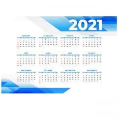 دانلود وکتور تقویم 2021 سری جدید