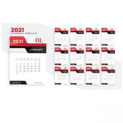 تقویم میلادی 2021 با طرح خاص و شیک