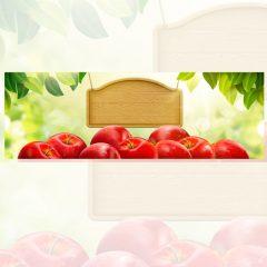 وکتور تبلیغات فروش میوه سیب قرمز
