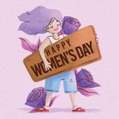 دانلود وکتور کاراکتر روز زن