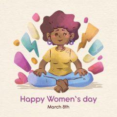 وکتور کاراکتر تبریک روز زن