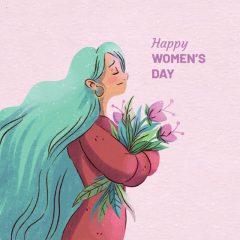 وکتور تبریک روز زن فانتزی