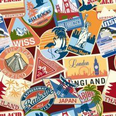 وکتور لیبل تمبر کشور های مختلف