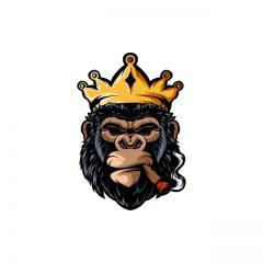 دانلود وکتور لوگو میمون شانپانزه