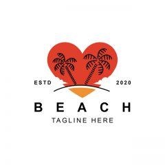 لوگو عشق و علاقه در ساحل