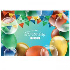 دانلود وکتور Happy Birthday زیبا با بادکنک رنگی