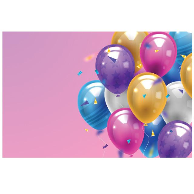 دانلود وکتور بادکنک جشنی زیبا و رنگارنگ