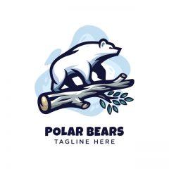 دانلود وکتور لوگو خرس قطبی