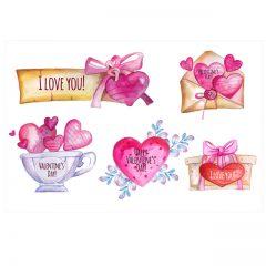 وکتور نامه و تبریک ولنتاین عاشقانه