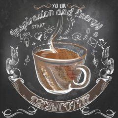 دانلود وکترو فنجان قهوه با طرح عشق