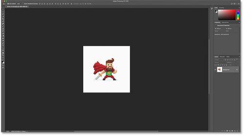 نحوه ی بزرگنمایی pixel art در فتوشاپ