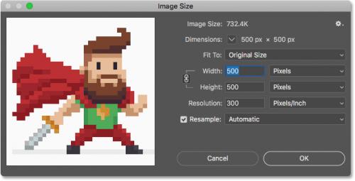 گزینه های image size