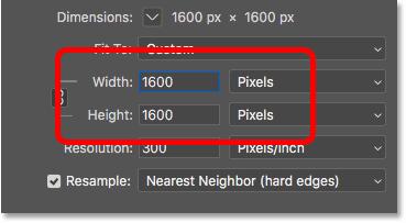 برحسب pixels