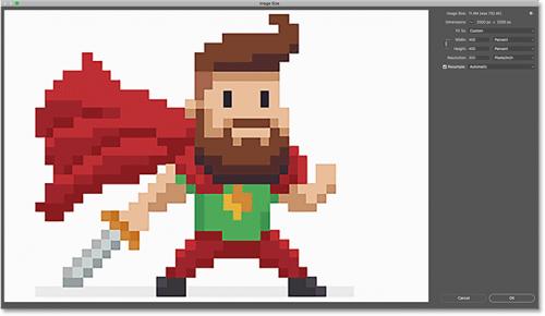 تغییر اندازه pixel art