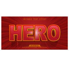 وکتور استایل متن Hero جذاب قرمز
