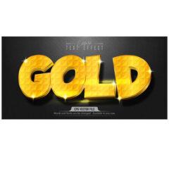 وکتور استایل متن طلایی گرافیکی