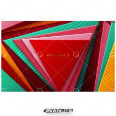 وکتور پس زمینه طرح مثلث های رنگی