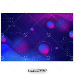 وکتور پس زمینه بنفش با دایره و شکل هندسی