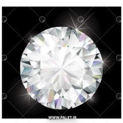 وکتور الماس طرح خاص سفید