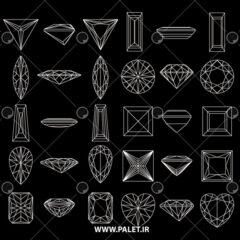 طرح های اولیه برای طراحی الماس