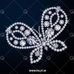 طرح لایه باز الماس شکل پروانه