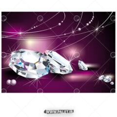 وکتور الماس کارتونی براق ساده