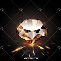 وکتور الماس نارنجی لایه باز