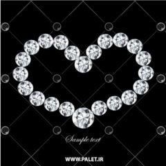 طرح لایه باز گردنبند الماس