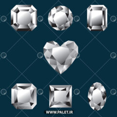 وکتور کارتونی الماس تراش داده