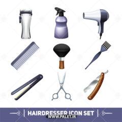 وکتور لوازم آرایشگاه مردانه لاکچری