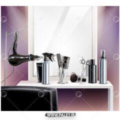 وکتور طرح دکور آرایشگاه مردانه