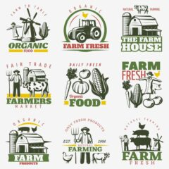 لوگو و طرح های کشاوزری و باغداری