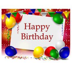 وکتور کادر زیبا برای تبریک جشن تولد