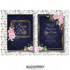 وکتور کارت دعوت عروسی خارجی