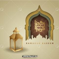 وکتور ماه مبارک رمضان و فانوس