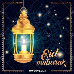 دانلود وکتور فانوس ماه رمضان
