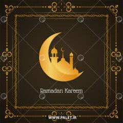 وکتور ماه رمضان با طرح طلایی