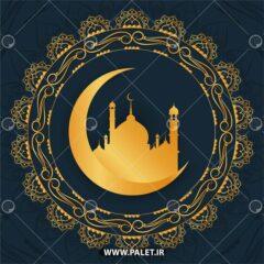 وکتور اسلیمی ماه رمضان طلایی