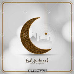 وکتور هلال ماه اسلیمی رمضان