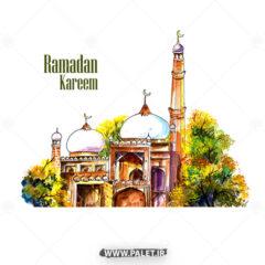 طرح کارتونی رمضان کریم زیبا