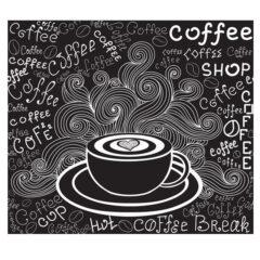 وکتور پس زمینه نوشیدنی داغ کافه