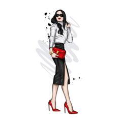 طرح دختر مدلینگ برای فروشگاه لباس