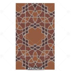 وکتور کاشی عربی با رنگ قهوه ای زیبا