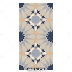 طرح لایه باز کاشی عربی رنگی