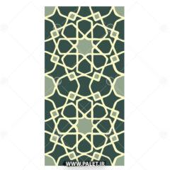وکتور طرح کاشی سنتی سبز رنگ