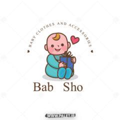 وکتور کاراکتر بچه نوزاد با طرح زیبا