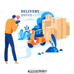 وکتور Delivery فروش اینترنتی