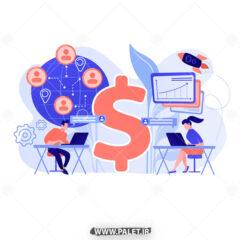 وکتور مفهومی کارکتر مدیریت سایت