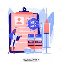 وکتور تزریق واکسن Hpv ویروس